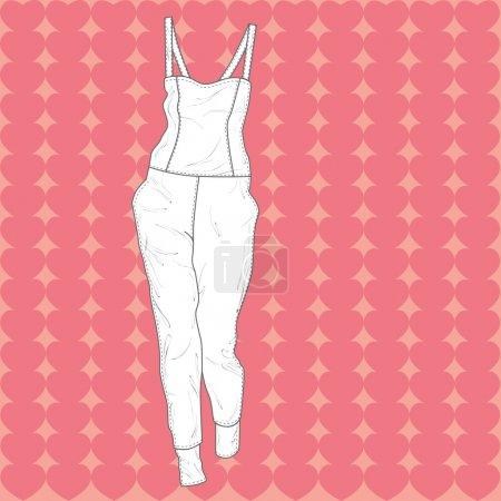 Illustration pour Illustration vectorielle d'une salopette . - image libre de droit
