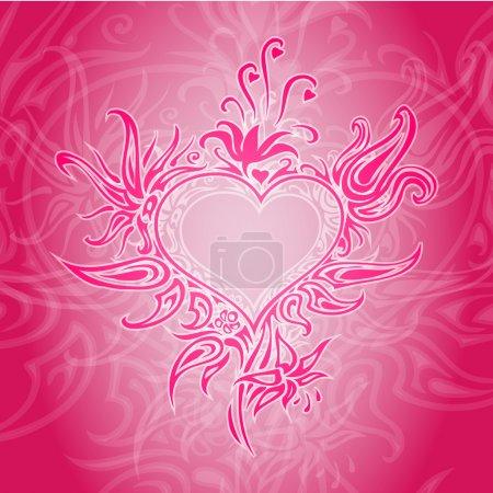 Illustration pour Fond vectoriel avec cœur abstrait . - image libre de droit