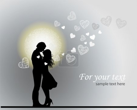 Valentine's background with couple in love.