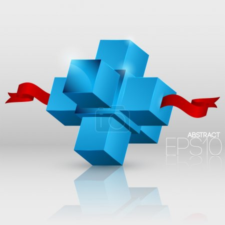 Vector abstract background with cubes.