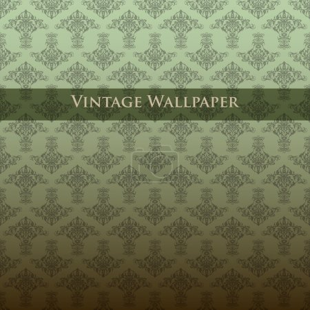 Photo for Vector vintage wallpaper. Vector illustration. - Royalty Free Image