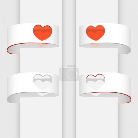 Illustration pour Bannières vectorielles avec coeurs . - image libre de droit