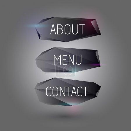 Photo pour Boutons web vectoriels noirs . - image libre de droit