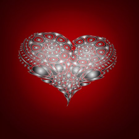 Illustration for Vector background with abstract heart. - Royalty Free Image