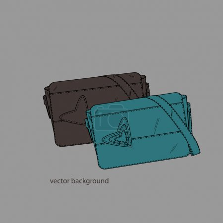 Vector illustration of a female bags.