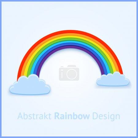 Illustration pour Fond vectoriel avec arc-en-ciel . - image libre de droit