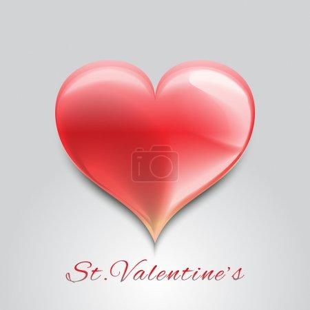 Illustration pour Fond Saint Valentin avec coeur rouge . - image libre de droit