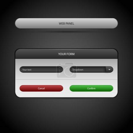 Illustration pour Panneau Web. Illustration vectorielle . - image libre de droit