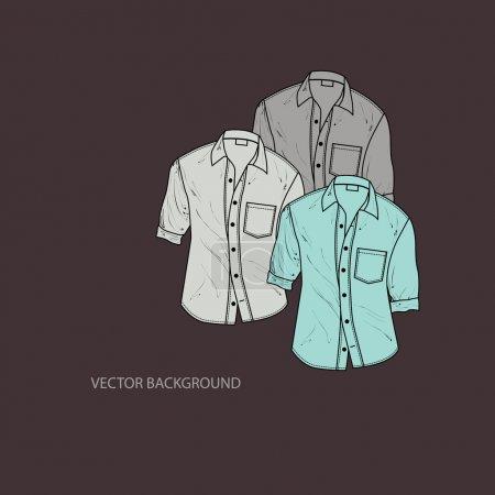 Vector illustration of men's shirts.