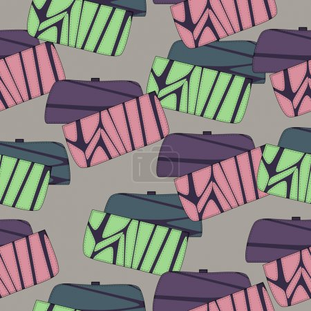 Vector background with womens bags.