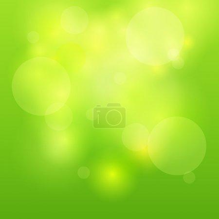 Green abstract light background. Vector illustration
