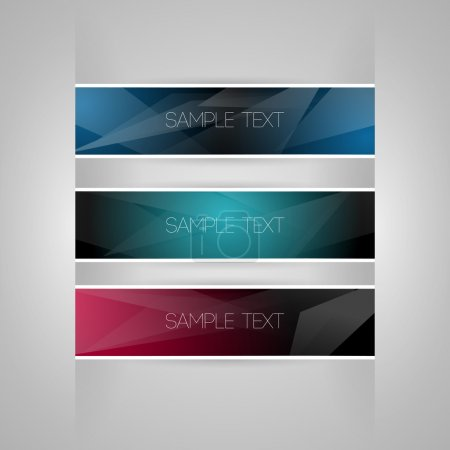 Vector set of colored banners.