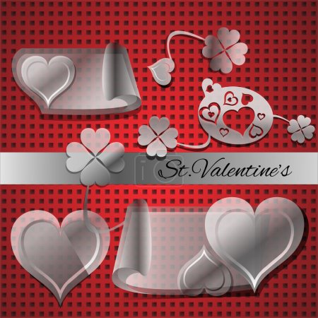 Vector set of elements for Valentine's day.