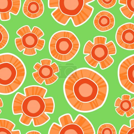 Vector background with orange flowers.