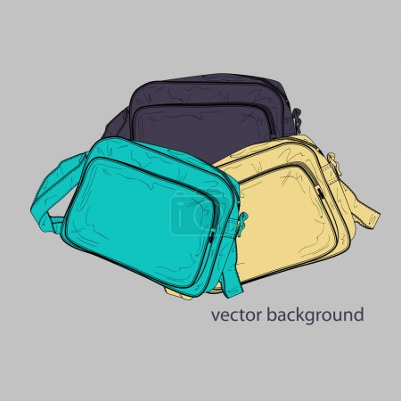 Illustration for Vector illustration of a female bags. - Royalty Free Image