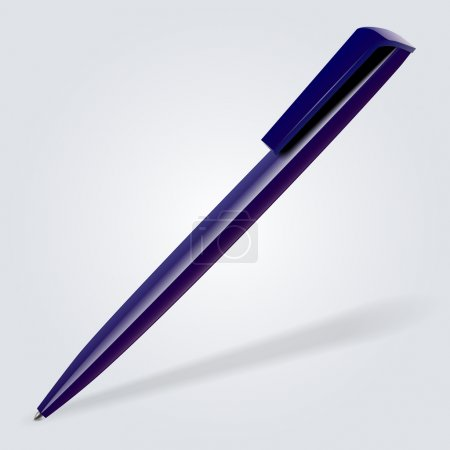 Illustration pour Illustration vectorielle d'un stylo. - image libre de droit