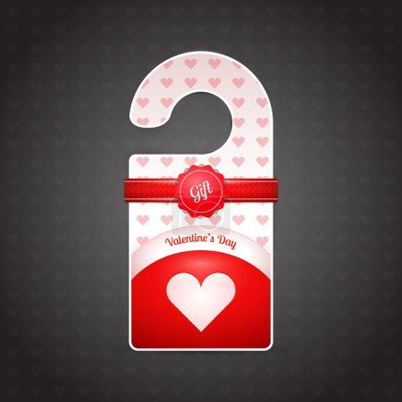 Valentine day door hangers. Vector illustration.