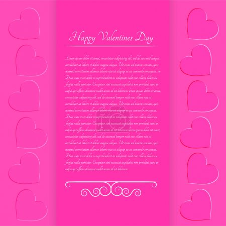 Photo for Pink valentine background. Vector illustration. - Royalty Free Image