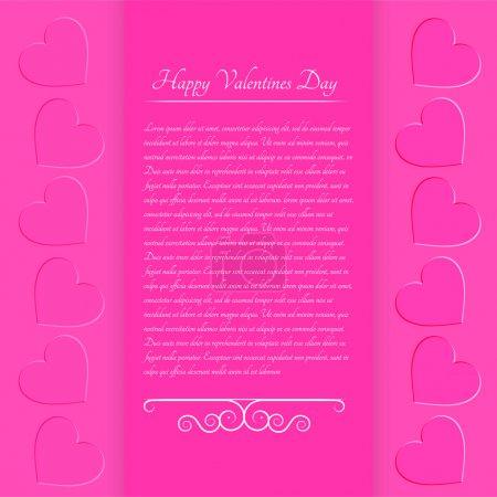 Illustration pour Fond de Saint Valentin rose. Illustration vectorielle . - image libre de droit