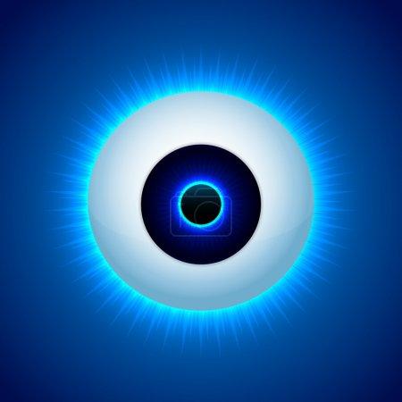 Illustration for Vector color eye design. Vector illustration. - Royalty Free Image