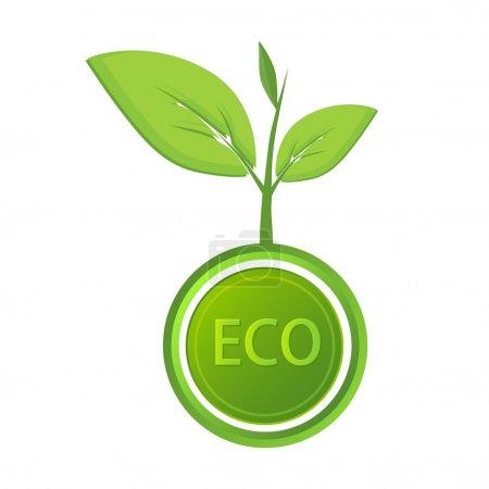 Vector eco icon. Vector illustration.