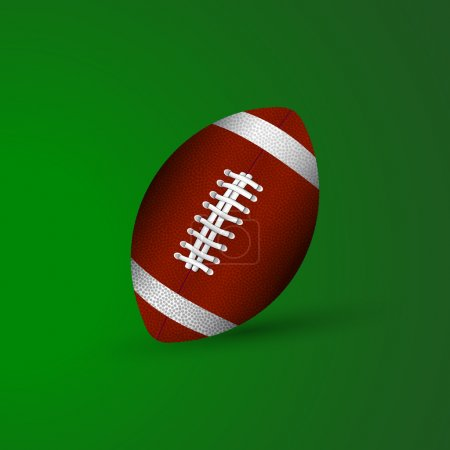 Illustration for Vector illustration of a ball for american football. - Royalty Free Image