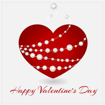 Vector greeting card with heart for Valentine's day.