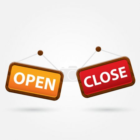 Open and closed signs.