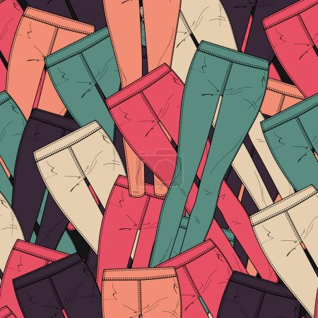 Vector background with pants.