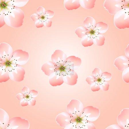 Illustration pour Fond printanier avec fleurs printanières - illustration vectorielle - image libre de droit