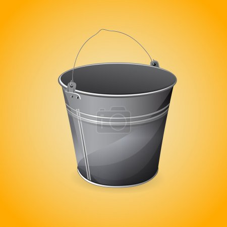Illustration for Vector illustration of bucket. - Royalty Free Image