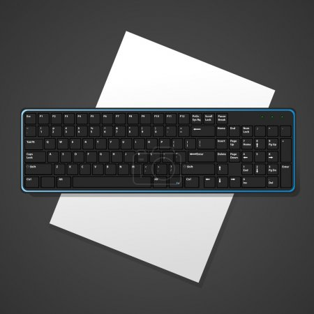 Illustration for Vector background with keyboard. - Royalty Free Image