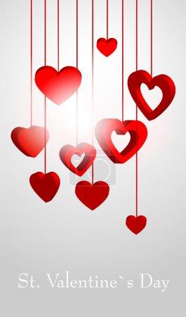 Hintergrund zum Valentinstag - Vektorillustration