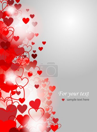 Valentines Day background - vector illustration