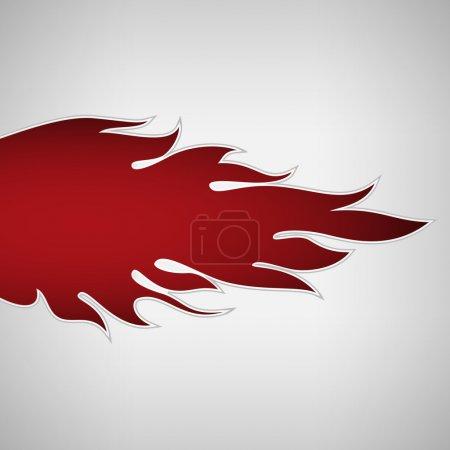 Illustration pour Flamme de feu. illustration vectorielle - image libre de droit