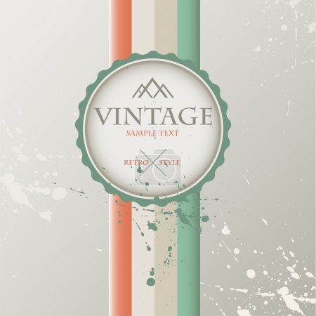 Vintage background with label.