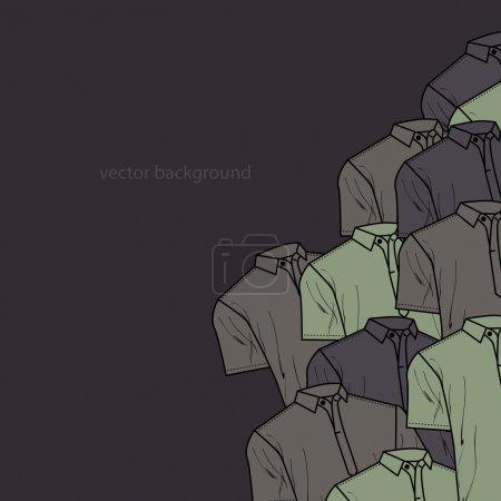 Illustration pour Fond vectoriel avec t-shirts polo . - image libre de droit