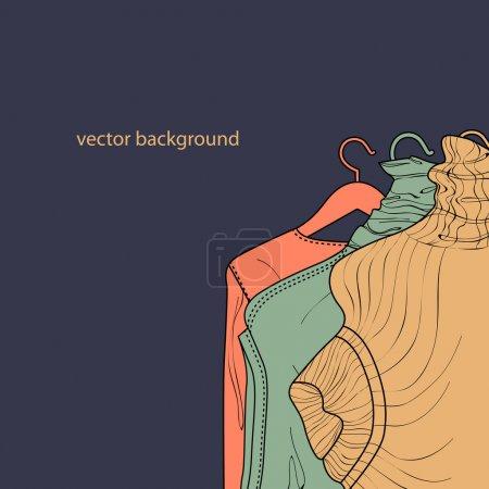 Illustration pour Collection de pulls pour femmes . - image libre de droit