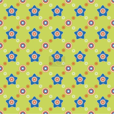Illustration for Seamless flower pattern background - Royalty Free Image