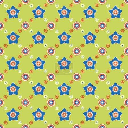 Illustration pour Fleur sans couture motif arrière-plan - image libre de droit