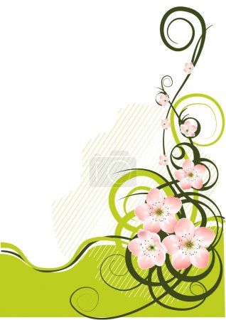 Photo for Spring background with spring flowers - vector illustration - Royalty Free Image