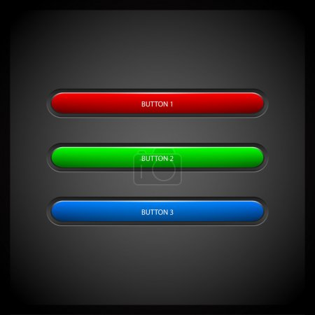 Vector colored buttons. Vector illustration.