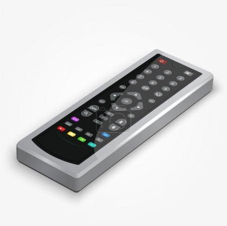 Illustration for Vector plastic black remote controller. - Royalty Free Image