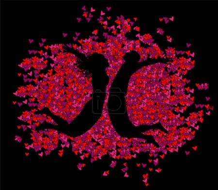 Background Valentine's Day - vector illustration