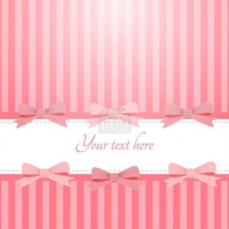 Illustration pour Vecteur fond rose avec des arcs - image libre de droit