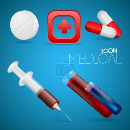 Vector set of medical icons.