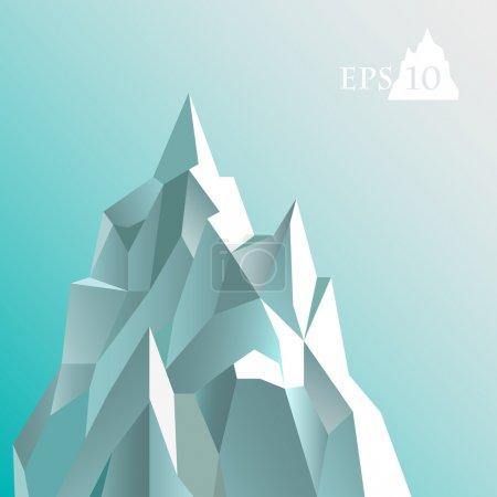 Vector illustration of abstract iceberg.