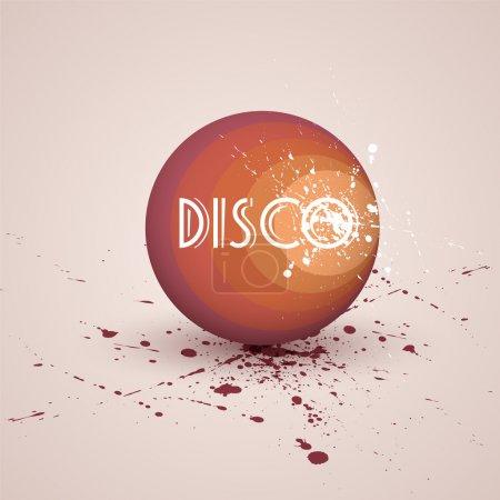 Vector illustration of a retro disco ball.
