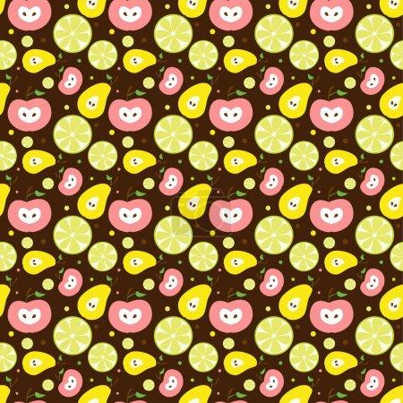 Vector fruit background. Vector illustration.