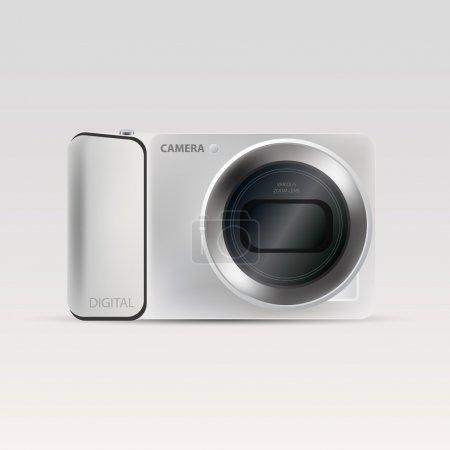 Illustration pour Illustration vectorielle d'une caméra. - image libre de droit